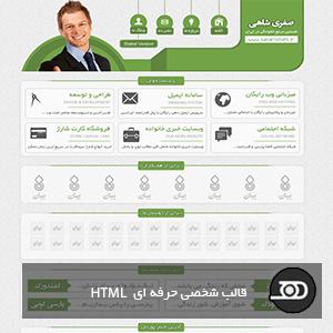 قالب شخصی حرفه ای html