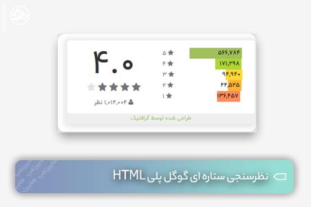 نظرسنجی ستاره ای گوگل پلی HTML
