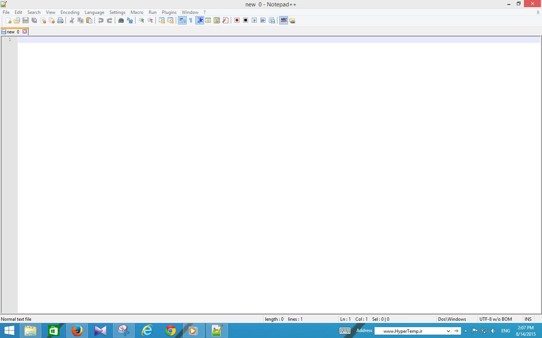 محیط نرم افزار Notepad++